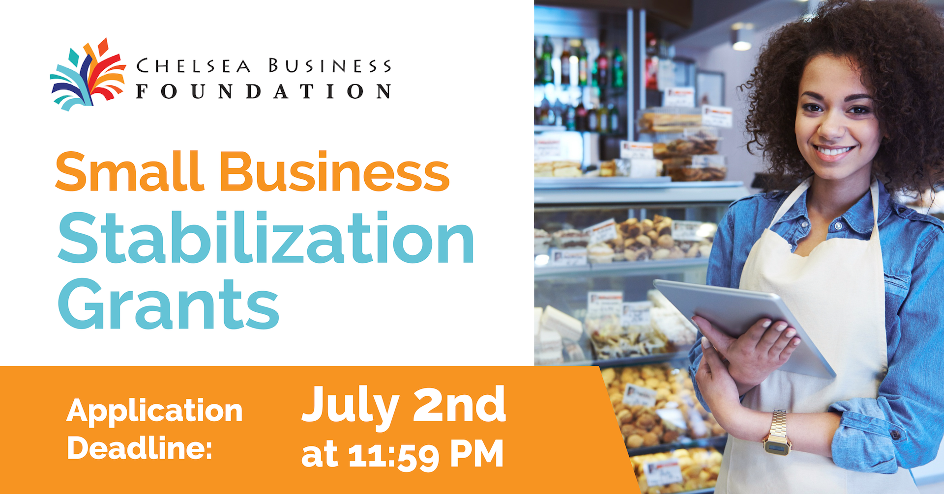 stabilization grants for small businesses located in Chelsea is July 2nd